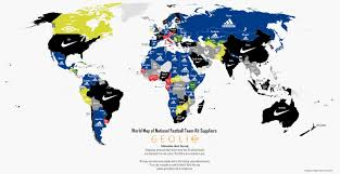 Egypt World Map by World Map Of Each National Soccer Team Kit Suppliers