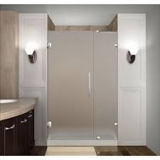 38 Shower Door Aston Cascadia 38 In X 72 In Completely Frameless Hinged Shower