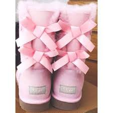 ugg womens boots pink shop pink ugg boots with bows on wanelo