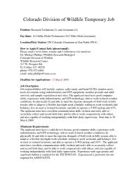 Cover Letter Examples For Medical Field 100 Cover Letter Examples For Wildlife Jobs Dailystatus