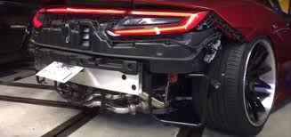 How Much Is The Acura Nsx 2017 Acura Nsx Aerodynamics Explained Using Red Smoke And