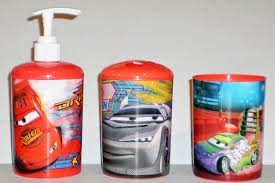 Bathroom Decor Set by Amazon Com Disney Pixar Cars 3 Piece Bathroom Accessories Set