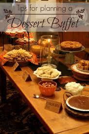 thinking about home planning a dessert buffet