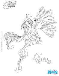 flora transformation sirenix coloring page winx pinterest