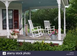Rocking Chair Old Fashioned Two Rocking Chairs Stock Photos U0026 Two Rocking Chairs Stock Images
