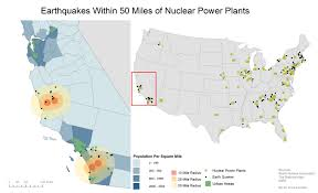 United States California Map by Nuclear Power Plants California Map California Map
