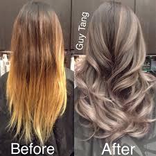 silver brown hair silver highlights for brown hair granny hair silver grey ombre
