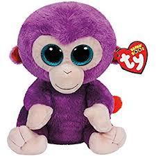 amazon ty beanie boos grapes purple monkey plush toys