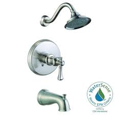 Two Handle Shower Faucet Brushed Nickel Pegasus Verdanza Watersense Single Handle 1 Spray Tub And Shower