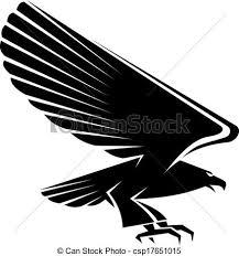 eagle tattoo clipart black eagle tattoo isolated on white background vector clip art