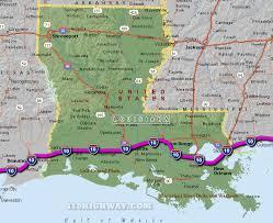 louisiana highway map i 10 louisiana map