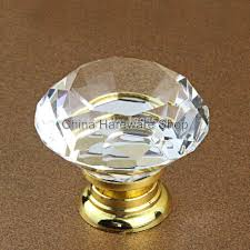 glass knobs for kitchen cabinets new 40mm crystal cabinet drawer knobs diamond shape wardrobe