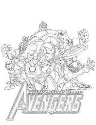 Dessin de coloriage Avengers à imprimer  CP02347