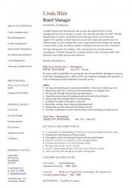 Retail Assistant Manager Resume Retail Manager Resume Examples Resume Examples For Retail 21