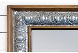 Metal Framed Bathroom Mirrors by Rustic Wood Framed Mirror Metal Framed Mirror Farmhouse Decor
