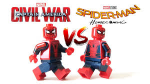 new lego spider man homecoming 2017 vs captain america civil war