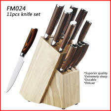 quality kitchen knives 12pcs high quality kitchen knife set deluxe pakka wood handle with