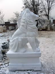 statues de jardin en pierre grande sculpture en pierre de marbre jaune sculpture en animal