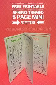 Printable Activity Book Free Printable Spring Activity Mini Book Pk1homeschoolfun