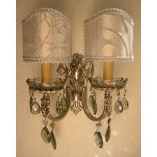Silver Wall Sconce Candle Holder Bathroom Lighting Murray Feiss Wbgs Crystal Gianna Wall Sconce