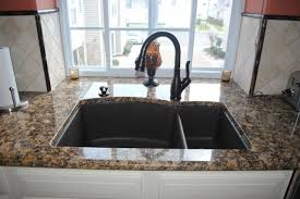 kitchen sink and faucets blanco silgranite sink rubbed bronze finish faucet