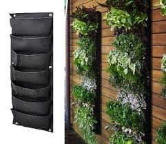 12 pocket outdoor vertical living wall planter planters green