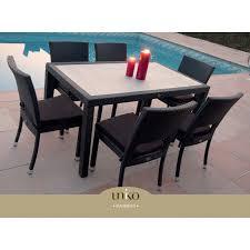 tavoli da giardino rattan tavolo per esterno con sedie impilabili in rattan mauritius