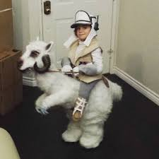 father creates custom tauntaun for his son u0027s star wars inspired