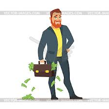 clipart money with suitcase with money color vector clipart