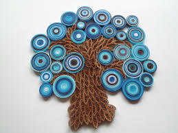 blue tree wall hanging abstract tree wall paper tree wall