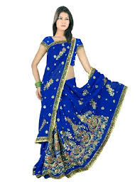 sari mariage new mariage indien embroidery work with perl sari saree robe