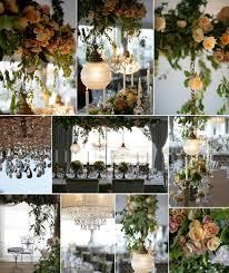 hanging wedding reception decor centerpieces chandeliers