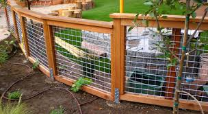 Types Of Fencing For Gardens - what about this type of fence around garden foundation plantings