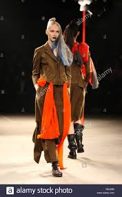 Japanese Designer by Models Present Creations By Japanese Designer Yohji Yamamoto As