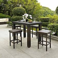 5 patio set furniture griffith 5 sky blue steel patio dining set with