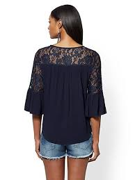 womens black blouse blouses for s shirts york company