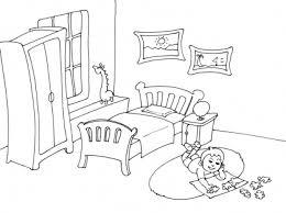 coloriage de chambre de fille coloriage de chambre a coucher