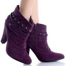 womens boots purple purple booties heels qu heel