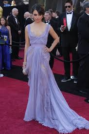 mila kunis sheer lavender lace evening prom dress at oscar red