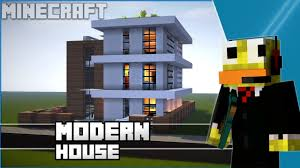 Modern Houses Minecraft Minecraft Easy Modern House Modern Town House Tutorial