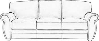 1 099 99 martello blue leather sofa classic transitional