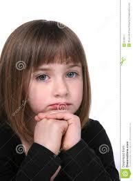 close up cute u0027s sad or thoughtful face stock image image