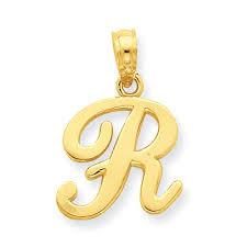 14k r script initial pendant samuels jewelers
