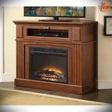 Corner Electric Fireplace Media Fireplace Brown Tv Stand Electric Heater Flame 1500w Corner