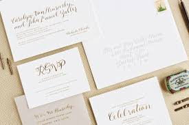 wedding invitations gold foil carley s gold foil and calligraphy wedding invitations