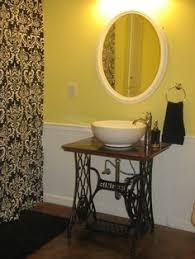 Repurposed Bathroom Vanity by Old Sewing Table Repurposed As Diy Sink Vanity House Hacks For