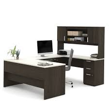 U Shaped Desk U Shaped Desk In Chocolate White Chocolate