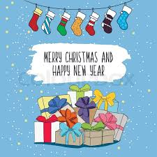 new years socks illustration on the theme of merry christmas and