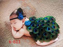 Peacock Halloween Costume Kids Quality Baby Photography Props Costume Kids Peacock