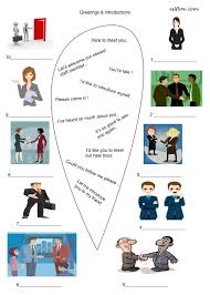 greeting introductions vocabulary worksheet